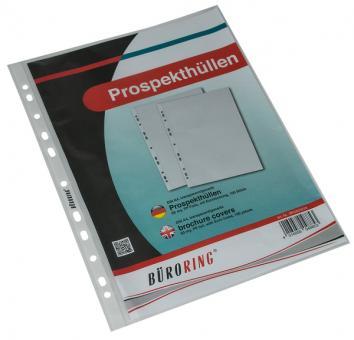 Büroring Prospekthülle A4 PP-Folie 60my genarbt