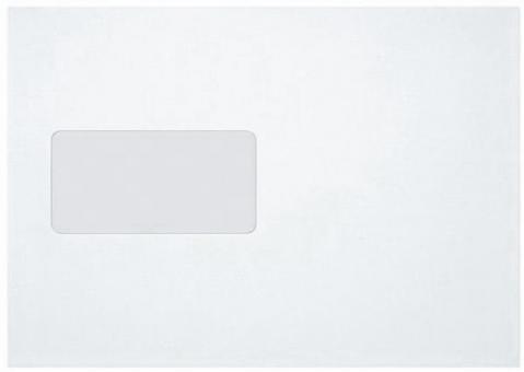 Versandtasche, C5, mit Fenster Selbstklebend, weiß, 90g